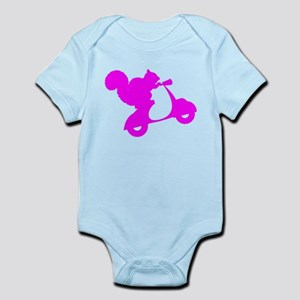 Pink Squirrel on Scooter Infant Bodysuit