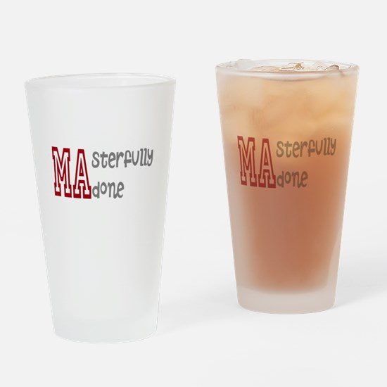 Masterfully Done Drinking Glass