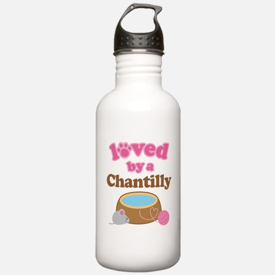 Loved By Chantilly Cat Water Bottle