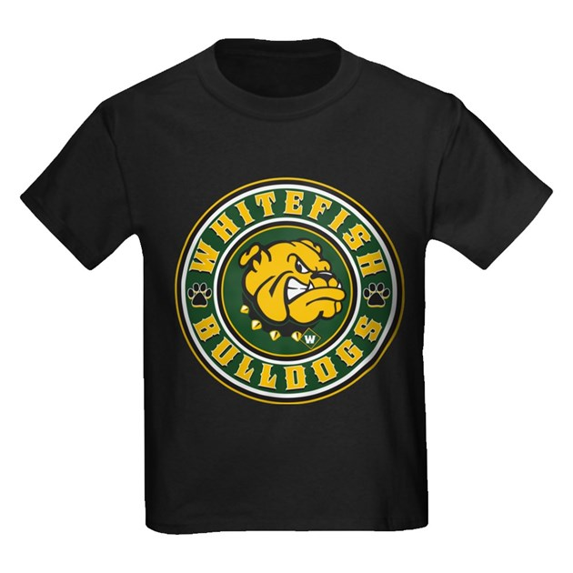 bulldog whitefish whitefish bulldogs circle kids dark t shirt whitefish 1613