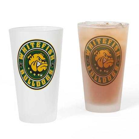 bulldog whitefish whitefish bulldogs circle drinking glass by highaltitudes3 2593