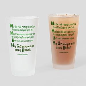 Irish May the Road Drinking Glass