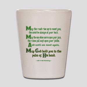 Irish May the Road Shot Glass