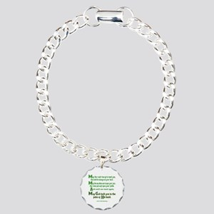 Irish May the Road Charm Bracelet, One Charm