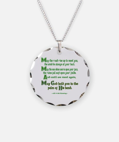 Irish May the Road Necklace