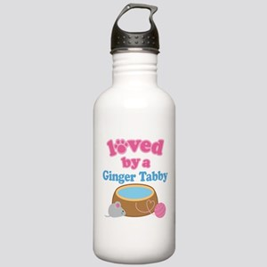 Loved By A Ginger Tabby Stainless Water Bottle 1.0