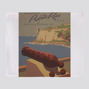 Discover Puerto Rico Travel poster Throw Blanket