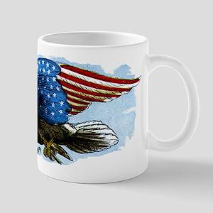 Vintage USA Patriotic American Eagle Flag Mug