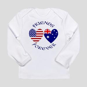 Australia USA Friends Forever Long Sleeve Infant T