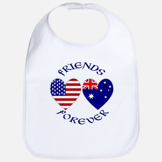 Australia USA Friends Forever Bib