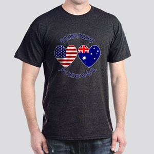 Australia USA Friends Forever Dark T-Shirt