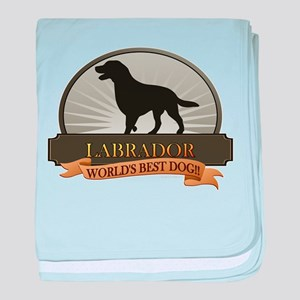 Labrador baby blanket
