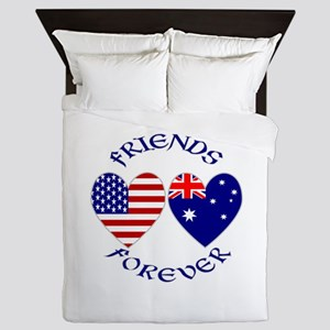 Australia USA Friends Forever Queen Duvet