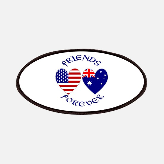 Australia USA Friends Forever Patches