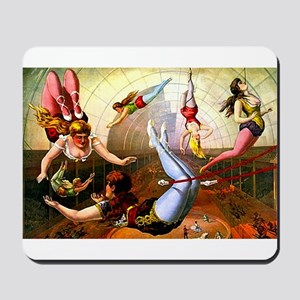 Vintage Flying Trapeze Ladies Circus Poster Art Mo