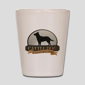 Cattle Dog Shot Glass