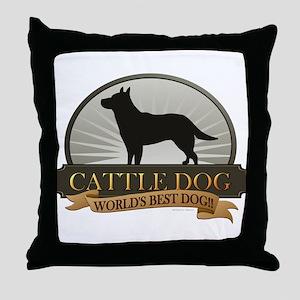 Cattle Dog Throw Pillow