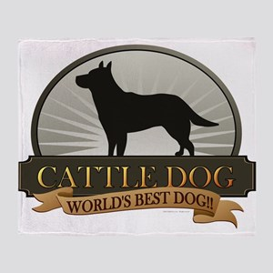 Cattle Dog Throw Blanket