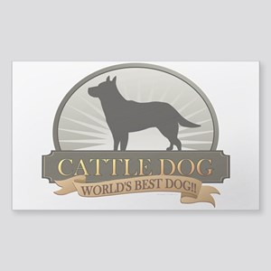 Cattle Dog Sticker (Rectangle)