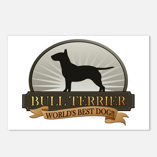 Bull Terrier Postcards (Package of 8)