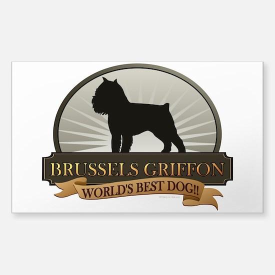 Brussels Griffon Sticker (Rectangle)