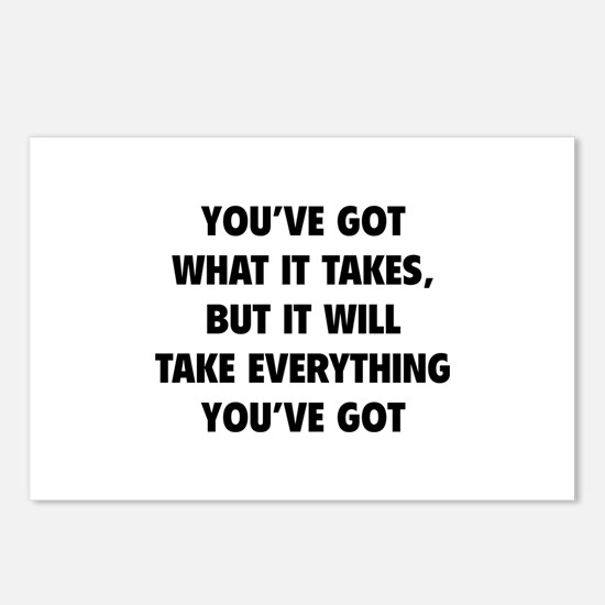 Everything you've got Postcards (Package of 8)