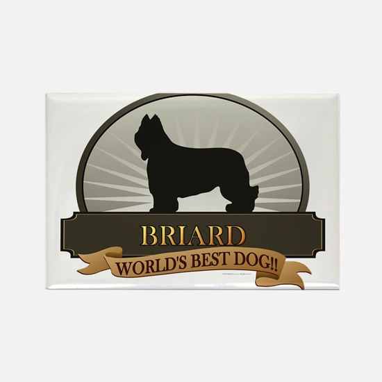 Briard Rectangle Magnet