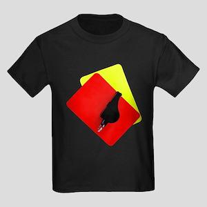 red and yellow card Kids Dark T-Shirt