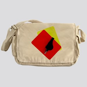 red and yellow card Messenger Bag