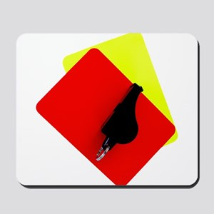 red and yellow card Mousepad