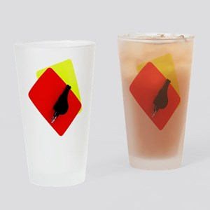 red and yellow card Drinking Glass