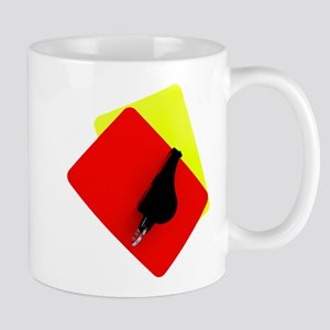 red and yellow card Mug