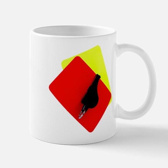 red and yellow card Mug