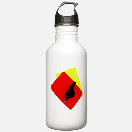 red and yellow card Water Bottle