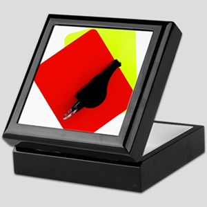 red and yellow card Keepsake Box