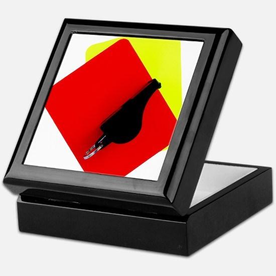 red and yellow card Keepsake Box