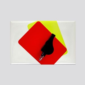 red and yellow card Rectangle Magnet