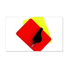 red and yellow card Wall Decal