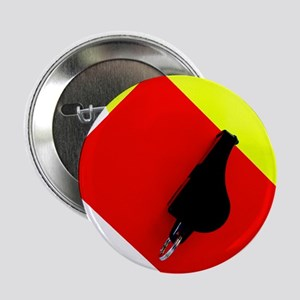 """red and yellow card 2.25"""" Button"""
