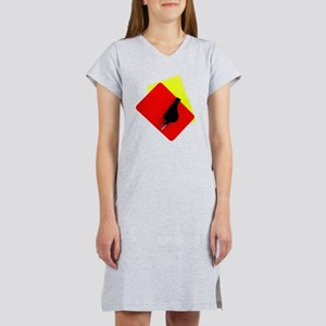 red and yellow card Women's Nightshirt