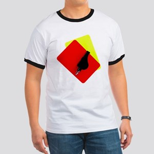 red and yellow card Ringer T