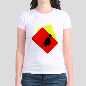 red and yellow card Jr. Ringer T-Shirt