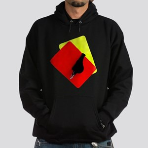 red and yellow card Hoodie (dark)