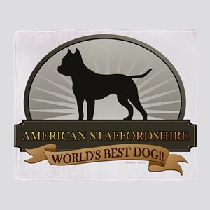 American Staffordshire Throw Blanket