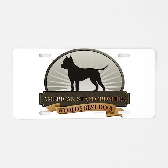 American Staffordshire Aluminum License Plate