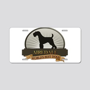 Airedale Aluminum License Plate