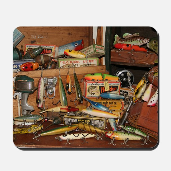 Mousepad - Vintage Fishing Lures