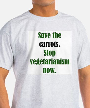 Save the Carrots Ash Grey T-Shirt