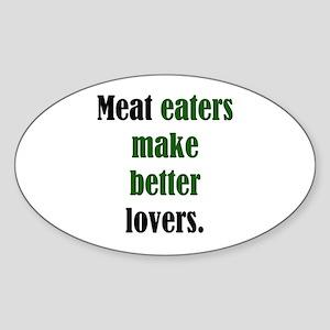 Meat Lovers Oval Sticker