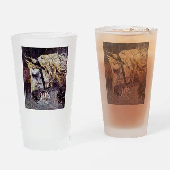 Giovanni Boldini Head Of A Horse Drinking Glass